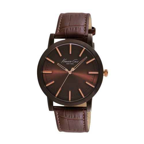 Brown Watch with Brown Croco-Leather Strap - Watches - Kenneth Cole