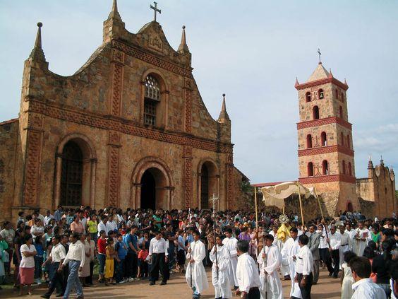 Templo misional de San José de Chiquitos. Patrimonio de la humanidad. Santa Cruz, Bolivia.