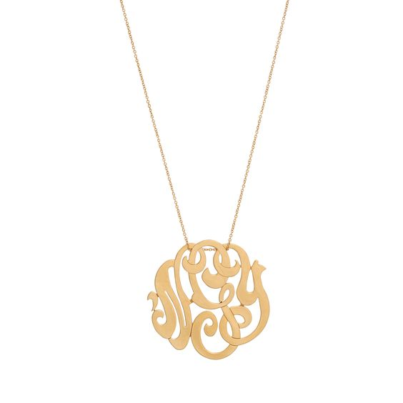 Collier Monogramme or rose Ginette ny