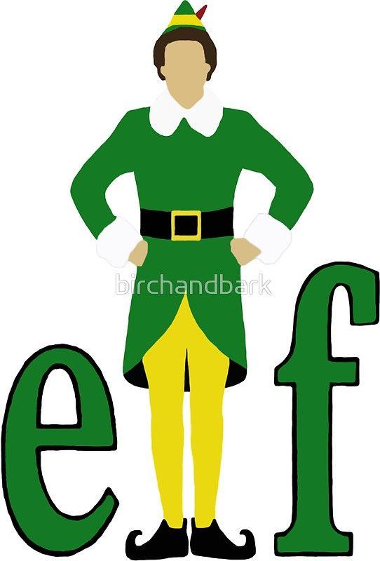 Buddy The Elf Sticker By Birchandbark Buddy The Elf Elf Cartoon Elf Drawings