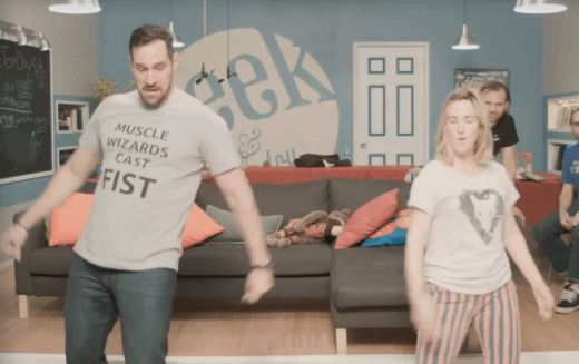 dance dancing robot pike ashley johnson travis willingham grog critical role #gif from #giphy