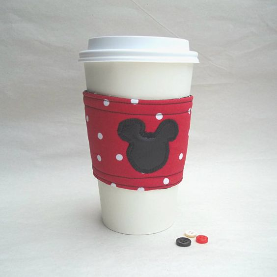Disney Mickey Mouse inspired coffee cozy by DeegeeMarieGifts, $7.00