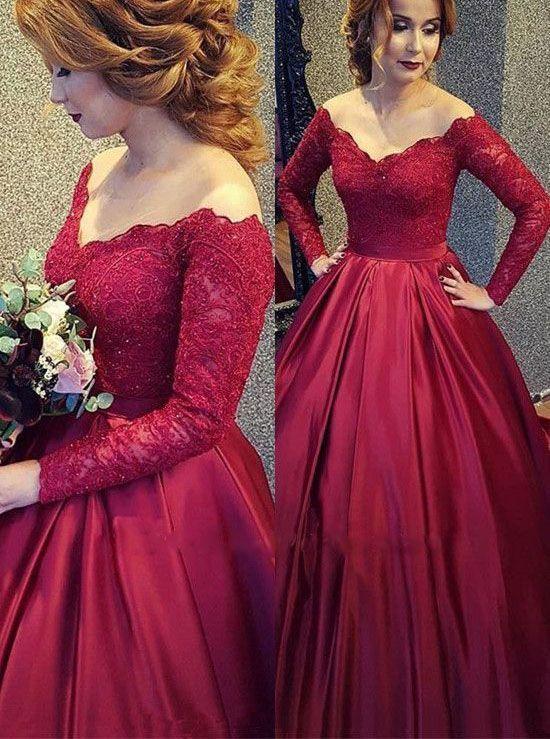Best Prom Dresses 2019 Long Prom Dresses Uk Long Sleeve Prom Dress Lace Red Wedding Dresses