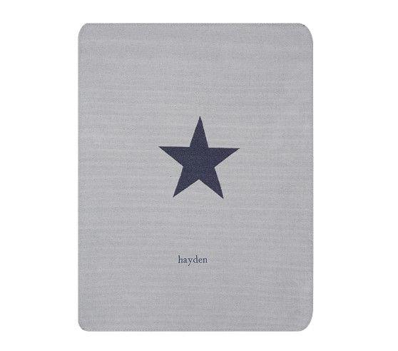 Star Stroller Blanket, Navy