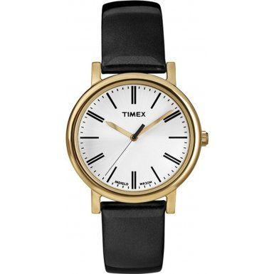 Timex Originals T2P371 Ladies Original Black Leather Strap Watch | WatchCorridor