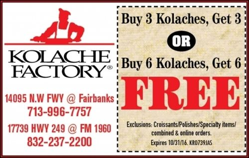 Kolache Factory Coupon - Buy 6 Get 6 FREE