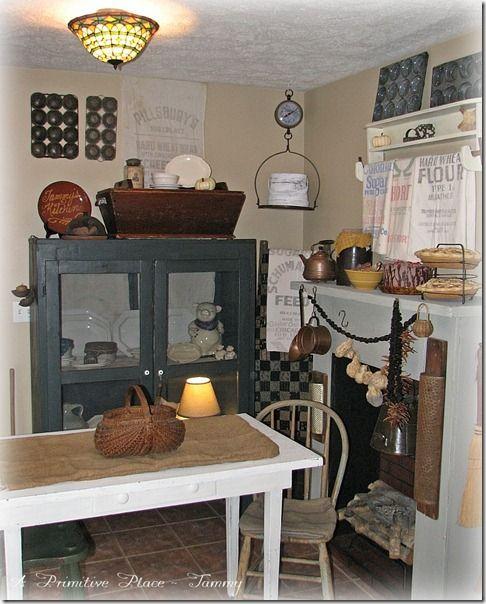 Country Kitchen Ramona: Primitive Farmhouse Kitchen Www.aprimitiveplace.net A
