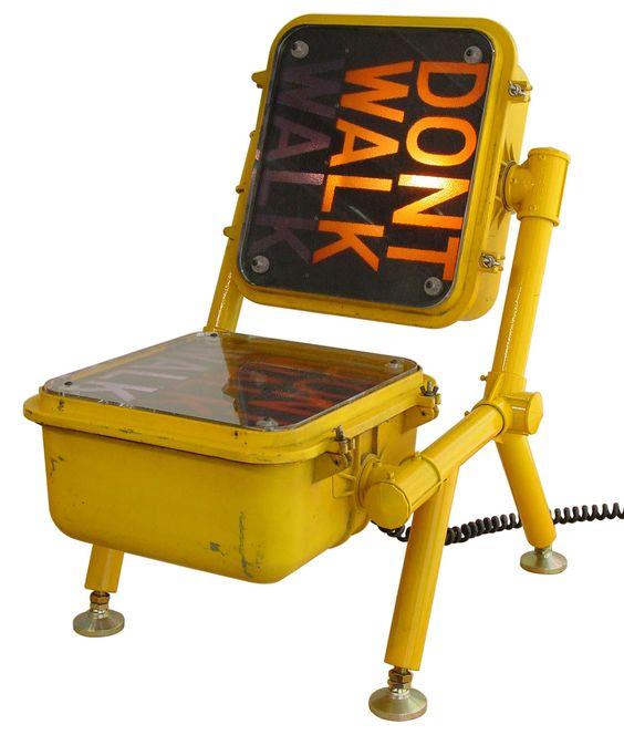Pedestrian sign chair