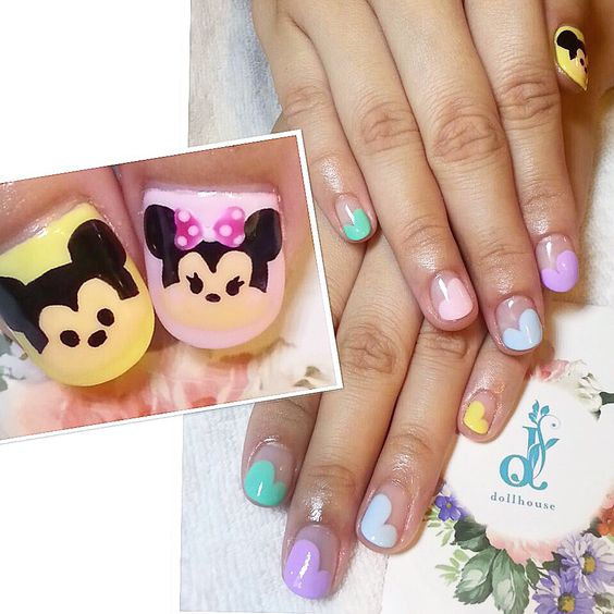 Pastels with Mickey and Minnie!  #nails #nailsg #nailart #nailmax #nailwow #nailporn #nailswag #nailmania #nailqueen #nailsalon #nailtrend #nailaddict #naildesign #nailstagram #nailsingapore #igsg #igers #igdaily #instapic #instadiary #instanails #dollhousesg #dollhousenails #manicure #gel #gelish #gelnails #disney