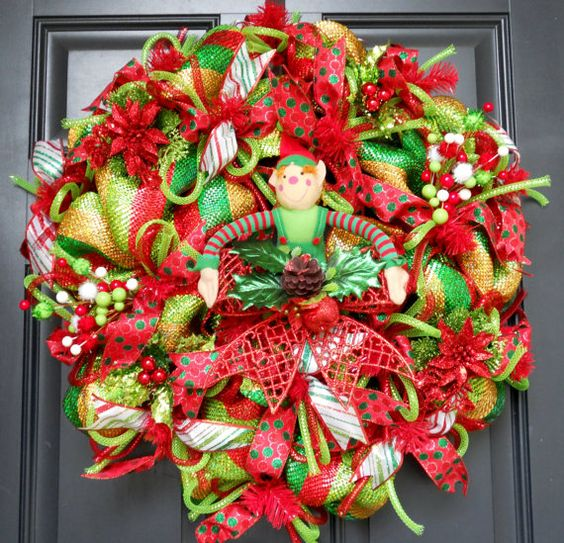 Hey, I found this really awesome Etsy listing at https://www.etsy.com/listing/166881398/christmas-deco-mesh-wreath-free-wreath