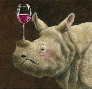 rhino and wine?