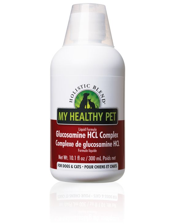 Holistic Blend Glucosamine HCL Complex Here is the glucosamine HCL complex, a very effective liquid formula which treats and relieves pain due to hip dysplasia, arthritis and other articular problems in most cats and dogs. Ingredients : Glucosamine HCL, Yucca, Anise, MSM.