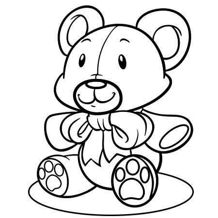 dessin ours en peluche a colorier