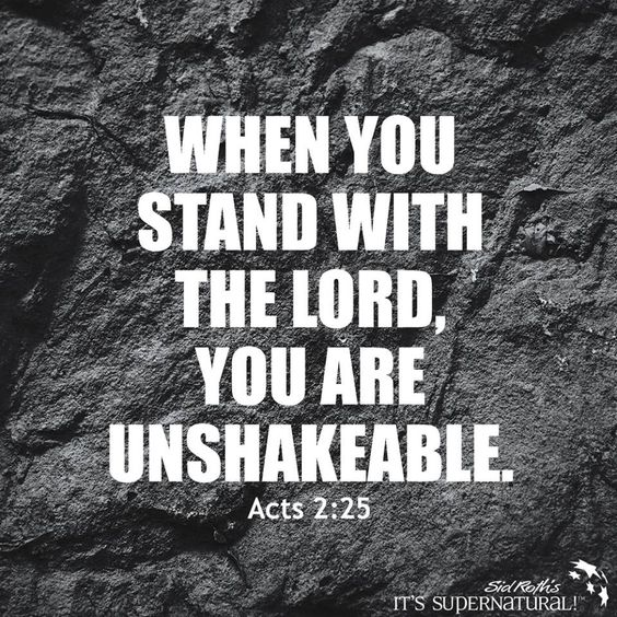 When you stand with The Lord...