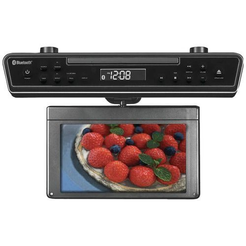 """Sylvania 10.2"""""""" Under-counter Bluetooth Kitchen Tv With Built-in Dvd Player & Hdmi"""