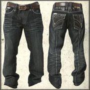 black jeans white stitching - Jean Yu Beauty