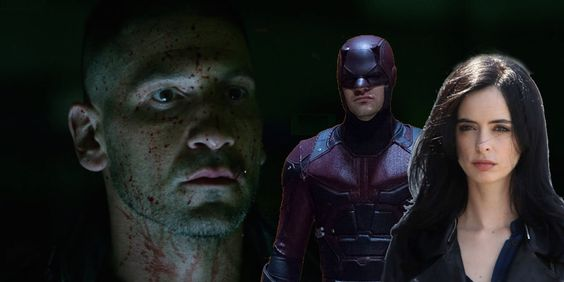 Daredevil, Punisher and Jessica Jones
