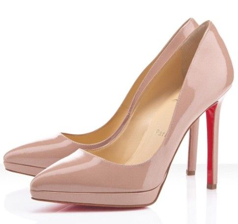 Christian Louboutin Pigalle Plato 120 Pumps Nude