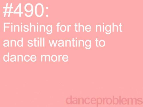 Especially after preformances: