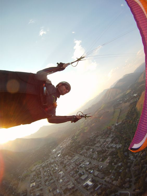 Sun Valley paraglider pilot, Matt Beechinor.