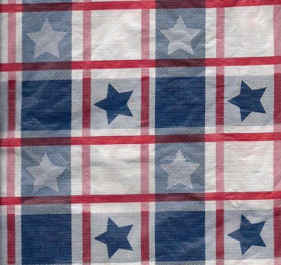 Patriotic Umbrella Tablecloth Vinyl Table Cloth Flannel