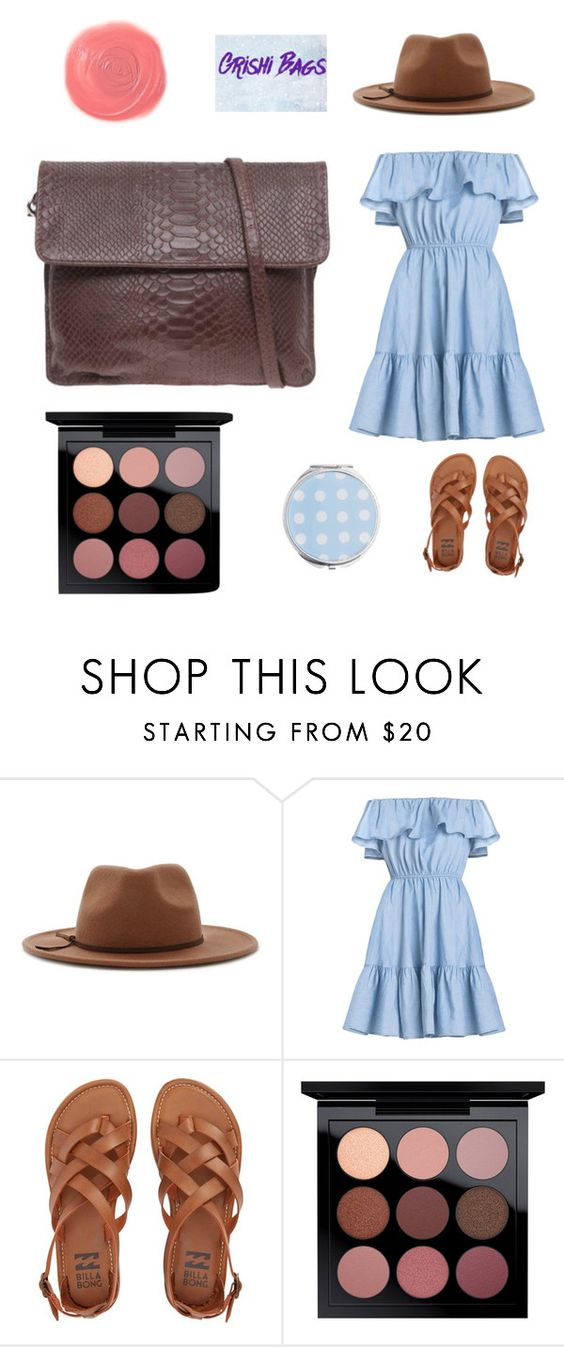 """Clutch brown"" by alex-groma ❤ liked on Polyvore featuring Forever 21, Billabong, MAC Cosmetics, Miss Selfridge and Rituel de Fille"