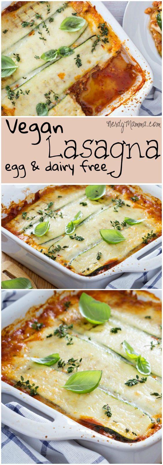 Vegan Lasagna (Dairy-Free & Egg-Free)  #vegan  Entdeckt von www.vegaliferocks.de✨ I Fleischlos glücklich, fit & Gesund✨ I Follow me for more inspiration  @ vegaliferocks