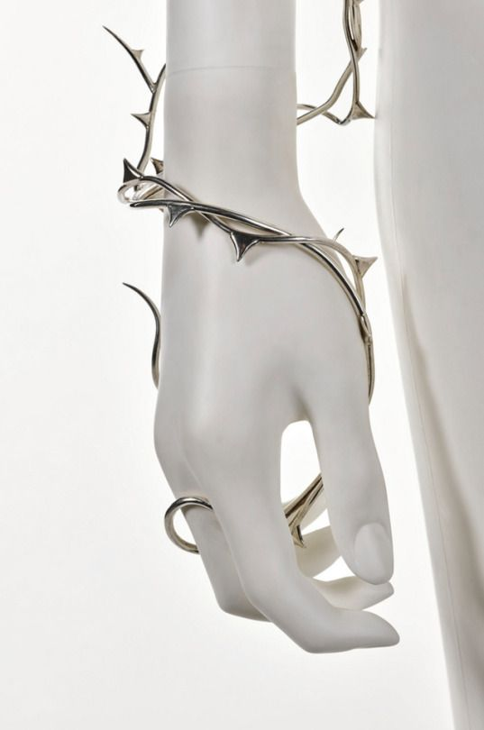 Shaun Leane Silver Thorn Arm Vine And Earring Made For Alexander