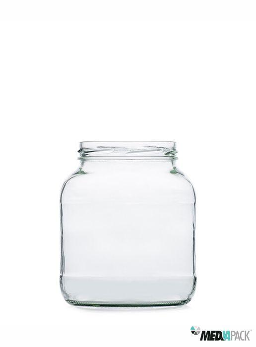 Pote de vidro para colocar diversos doces ou compotas.