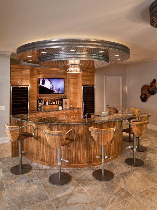 Bar Ideas Contemporary Home Bar Design With Semi Circle