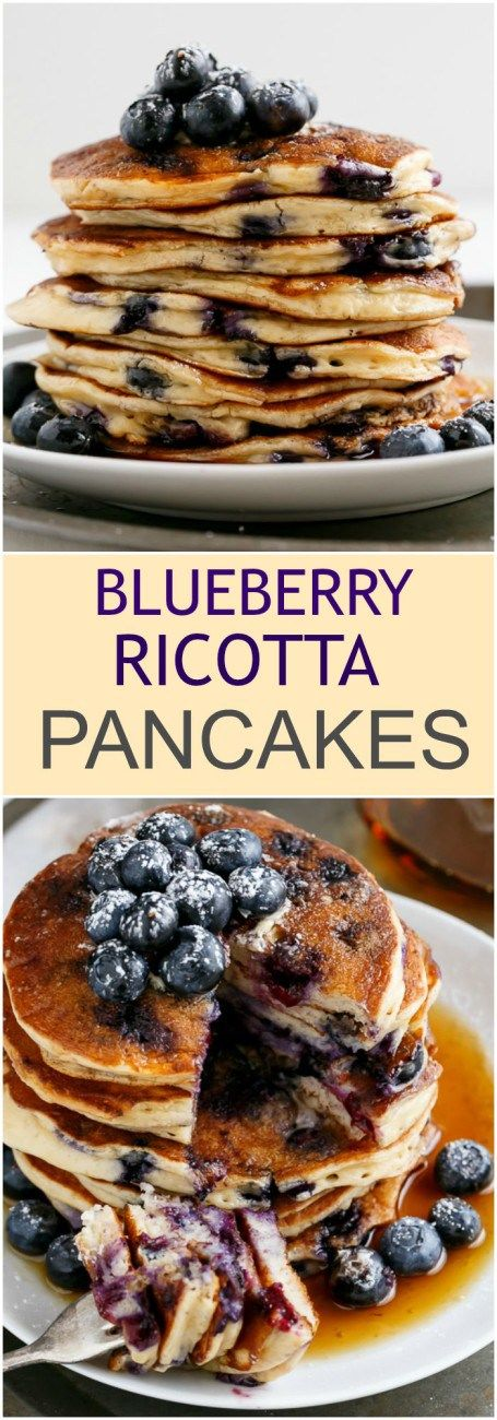 Blueberry Ricotta Pancakes | Recipe | Ricotta Pancakes, Ricotta and ...