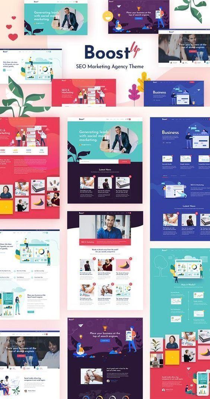 Boostup Seo Marketing Agency Wordpress Theme A Modern And Responsive Design Business Website Agency Website Design Marketing Agency Marketing Agency Website