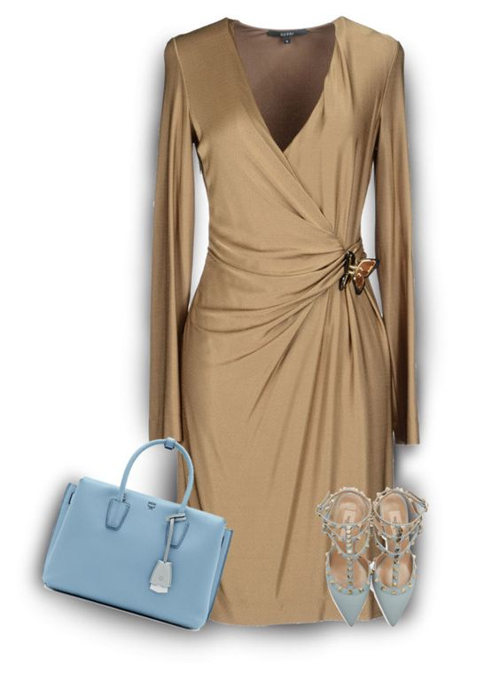 """""""Gucci Dress💕"""" by v-designs ❤ liked on Polyvore featuring Trilogy, Gucci, Valentino and MCM"""