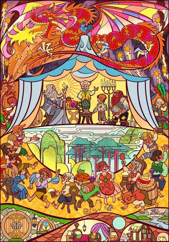 Lord-of-the-Rings-illustrated-in-stained-glass-2