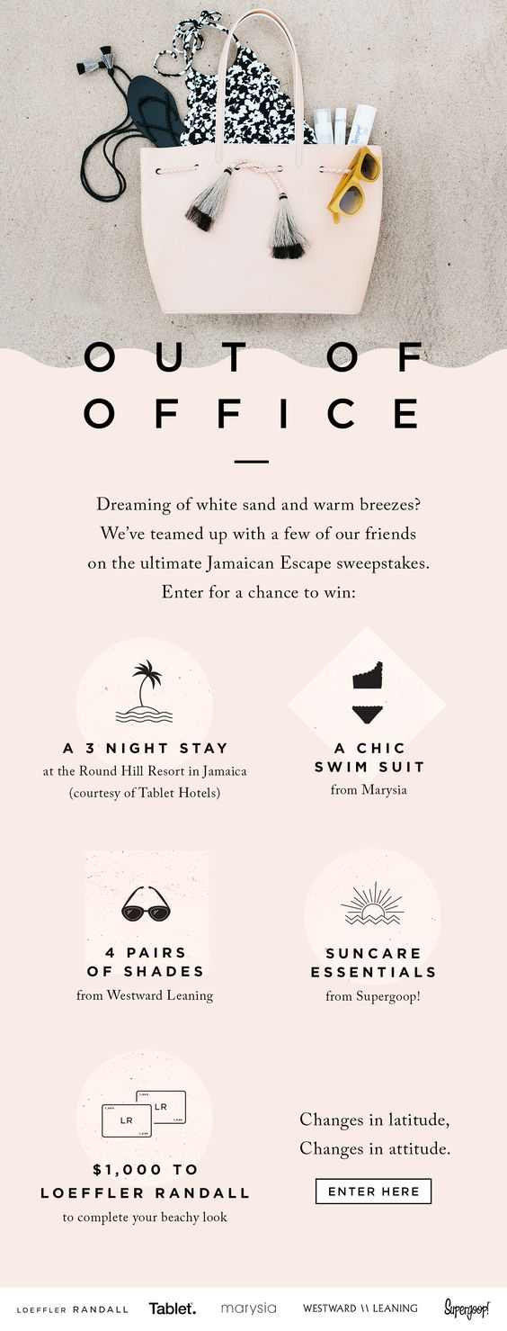 Win: White Sand + Warm Breezes Loeffler Randall Email Newsletter Design  view all things effective online marketing and beautiful web presence at http://www.imedia.click !