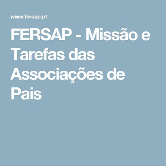 FERSAP - Missão e Tarefas das Associações de Pais