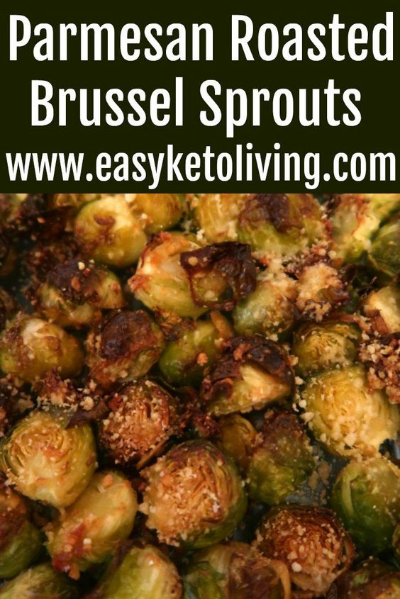 Keto Roasted Brussel Sprouts With Parmesan