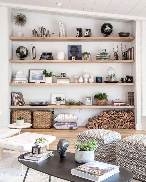 16 Ideas Para Decorar Estanterías En Title Year Murales De Pared Para Dormitorio Decorar Estantería Consejos De Decoración De Interiores