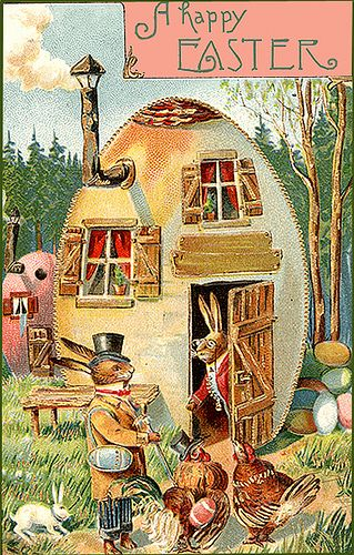 A Happy Easter  Reminds me of the Uncle Wiggley stories my 3rd grade teacher would read to us.: