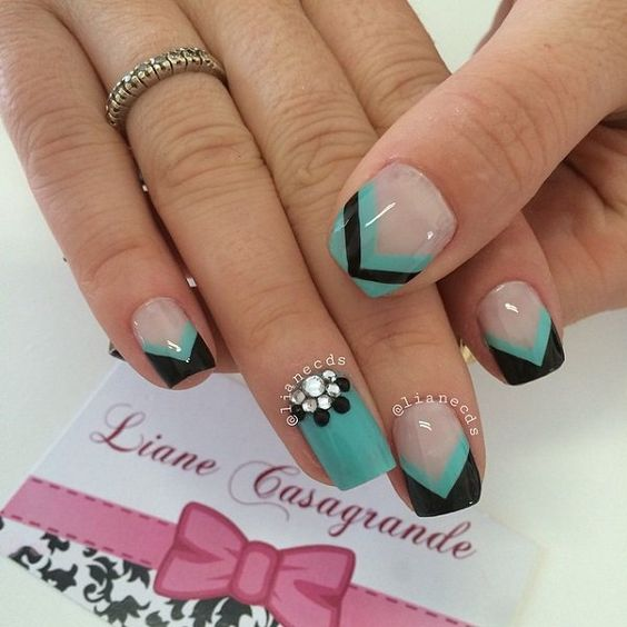 Black French Tips, Nail Design