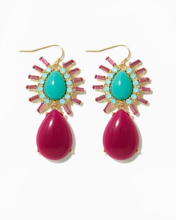 charming charlie | Cabochon Burst Earrings | UPC: 410007018012 #charmingcharlie