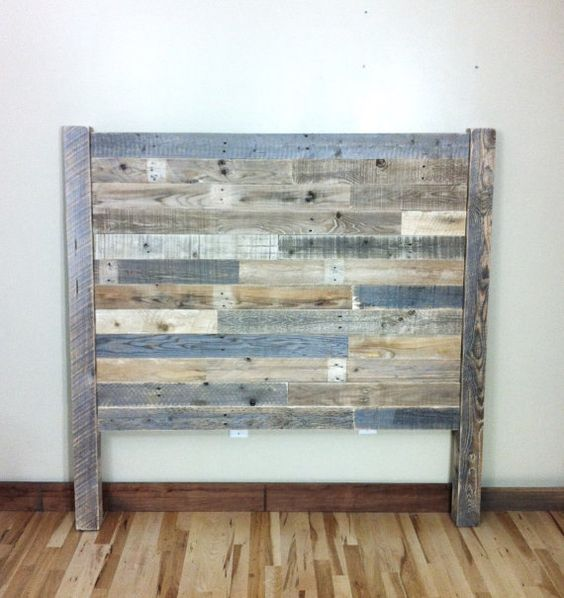 headboard pallet furniture reclaimed barn wood head. Black Bedroom Furniture Sets. Home Design Ideas