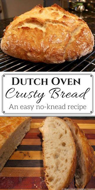 Easy, No-Knead Dutch Oven Crusty Bread
