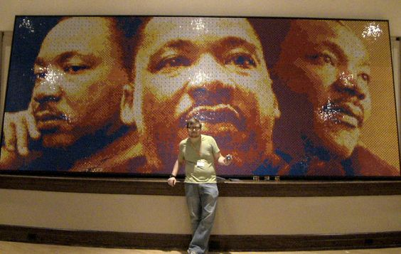 Martin Luther King Jr. Mosaic Made With 4,242 Rubik's Cubes.