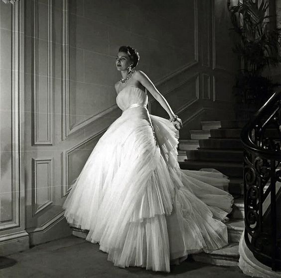 Inspiration for Demelza's ball gown --- Dior ball gown. | Poldark, as seen on Masterpiece on PBS