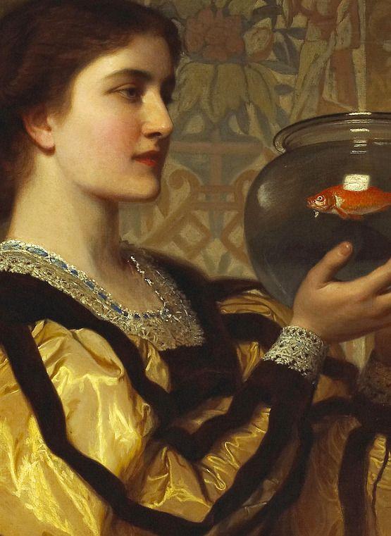 Charles Edward Perugini 1839-1918, The goldfish bowl., detail