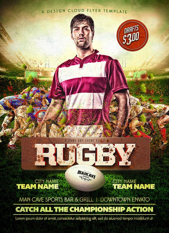 Rugby Flyer Quality PSD Flyer Templates    owly EciXo - sports flyer template