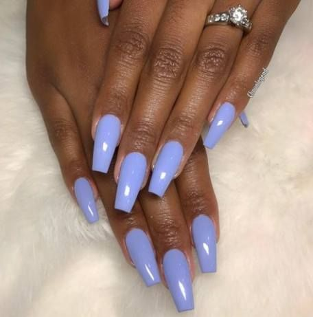 New Nails Coffin Black Girl 20 Ideas Periwinkle Nails Blue Acrylic Nails Cute Nail Colors