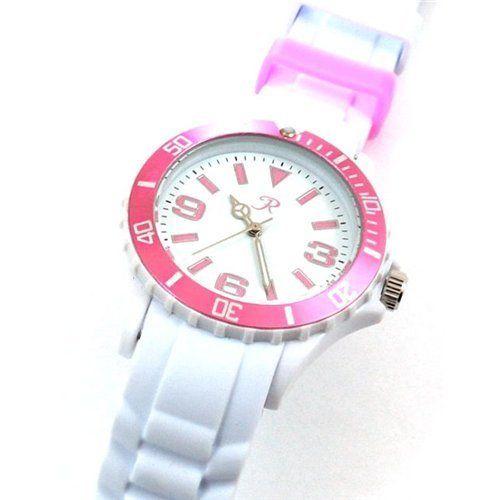 Reflex White and Pink Silcone Strap Ladies Sports Watch SR016 Reflex. $16.95