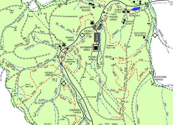 Alligator Rock Tr Kanawha State Forest Wv Running Pinterest: Kanawha State Forest Map At Codeve.org